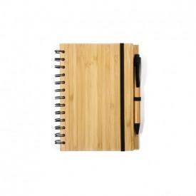 Bambusový notes so špirálou