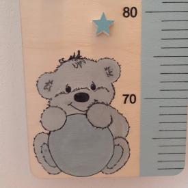 Detský drevený meter - macko