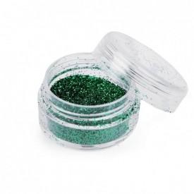Zelené glitre v dóze
