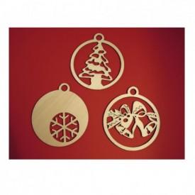 Zvončeky, vločka, stromček