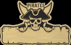 Detská menovka pirát