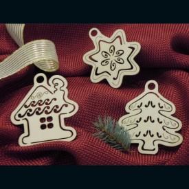 Domček, hviezda, strom