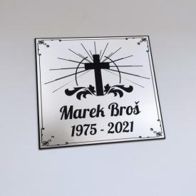 Tabuľka na hrob kríž