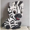 Maľovaná doska zebra