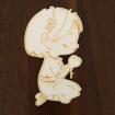Výrez - modliace dievčatko