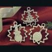 Snehuliak, stromček, guľa
